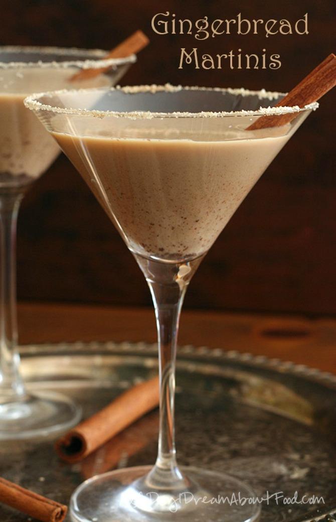 Sugar-Free Gingerbread Martinis
