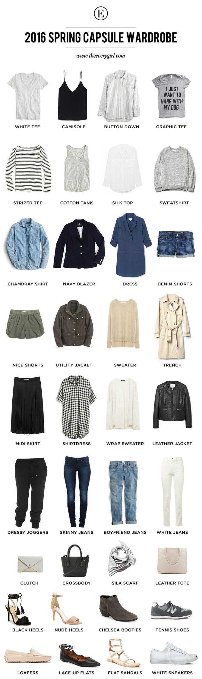 the every girl spring wardrobe capsule