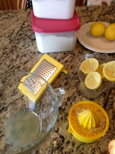 Prepare the lemon filling while the crust is baking.