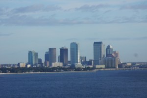 Downtown Tampa across the bay.