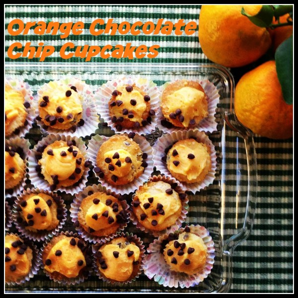 Orange Chocolate Chip Cupcakes