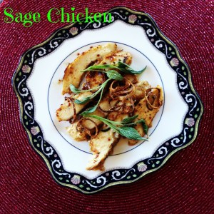 Sauteed Chicken Strips and Shallots With Sage Browned Butter