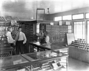 This photograph of the interior of a general store and post office in Hialeah was taken in 1921.