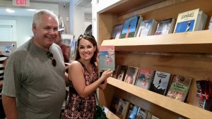 My brother and niece discovered my cookbook: Easy Breezy Florida Cooking at a gift shop on the east coast.