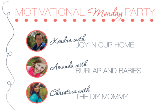Motivational Monday at www.joyinourhome.com  Link Up party