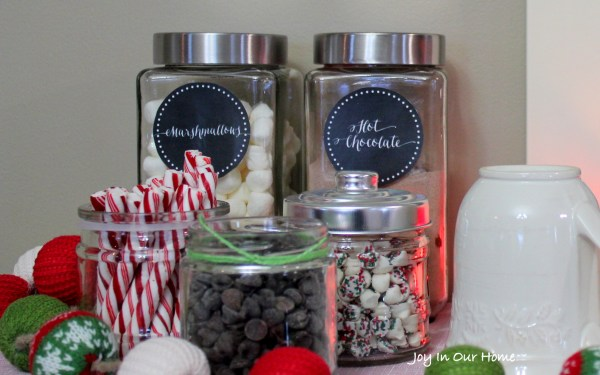 Hot Chocolate Station and Printables at www.joyinourhome.com