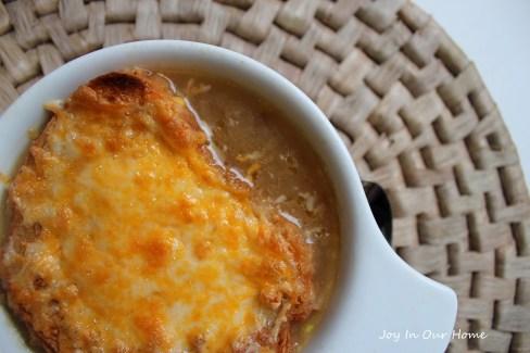 French Onion Soup at www.joyinourhome.com