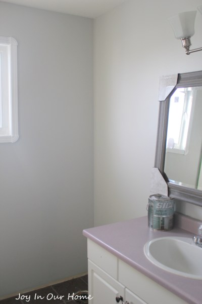 One Room Challenge Bathroom Update at www.joyinourhome.com