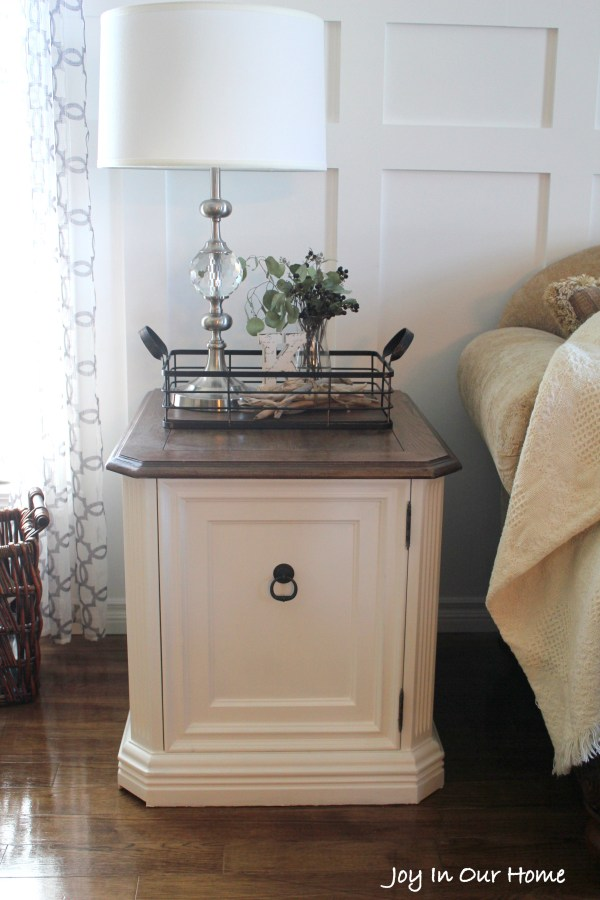 Repurposed Living Room End Table