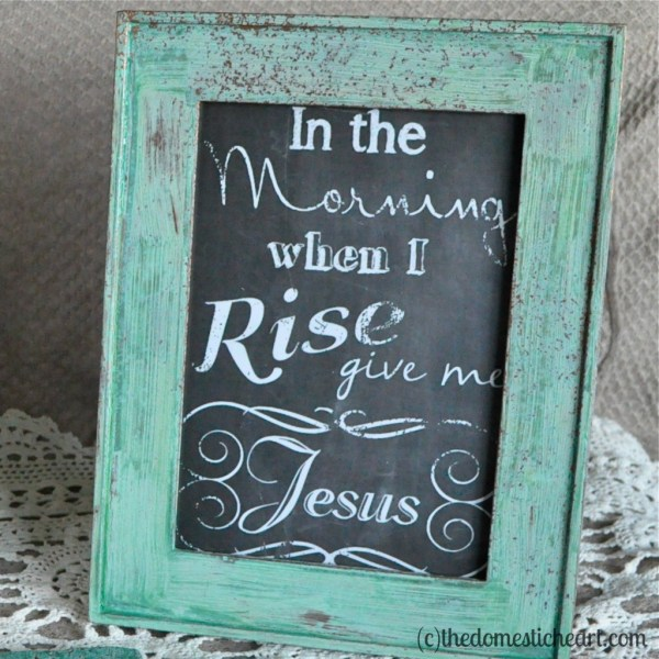 In The Morning When I Rise free printable