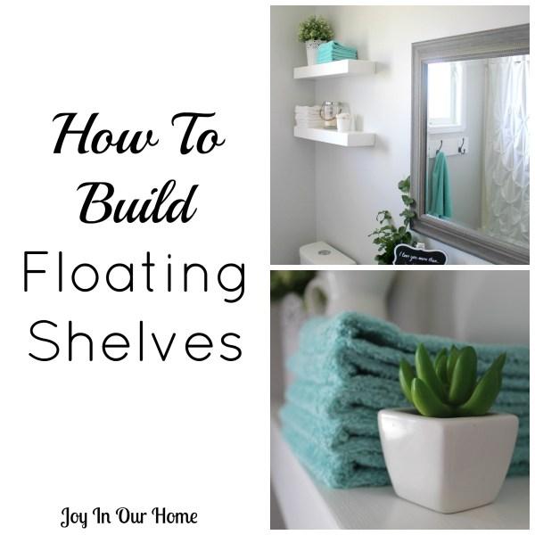 Easy DIY Floating Shelves from www.joyinourhome.com