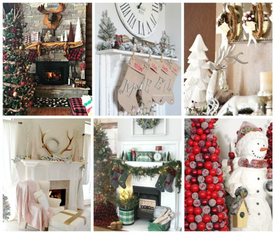 mantelscollage-1200x1019 Outdoor Christmas Tablescape Christmas Holidays