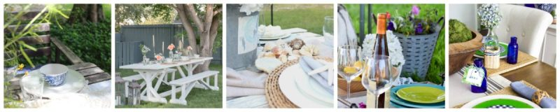tablescape collage 1200x240 Summer Coastal Farmhouse Mantle