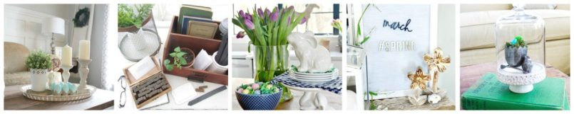 vignette-collage-1-1200x240 Spring Inspired Dining Room Tablescape Spring