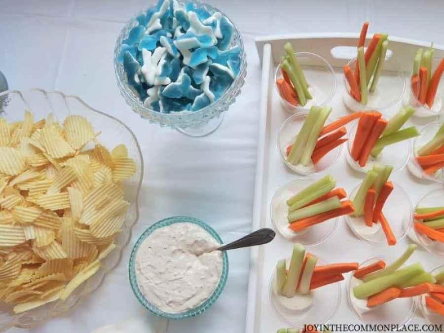 Mermaid party snacks
