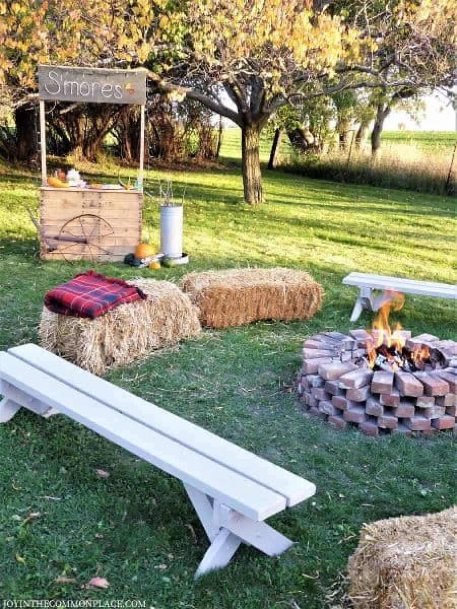 Campfire & S'more Bar Harvest Party
