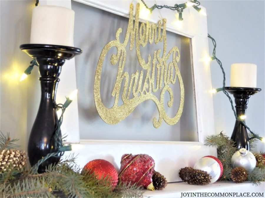 merry christmas sign and wall shelf ideas - Christmas Shelf Decorations