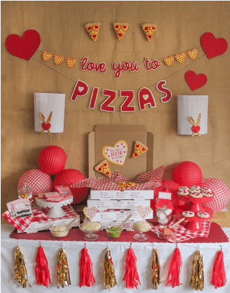 """""""Love You to Pizzas"""" Valentine's Day Pizza Party"""