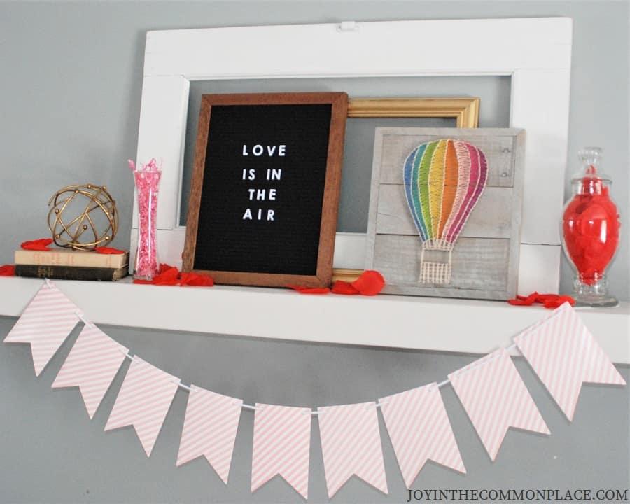 Valentine's Day Wall Shelf