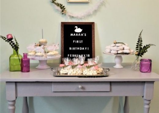 Spring Swan First Birthday Party