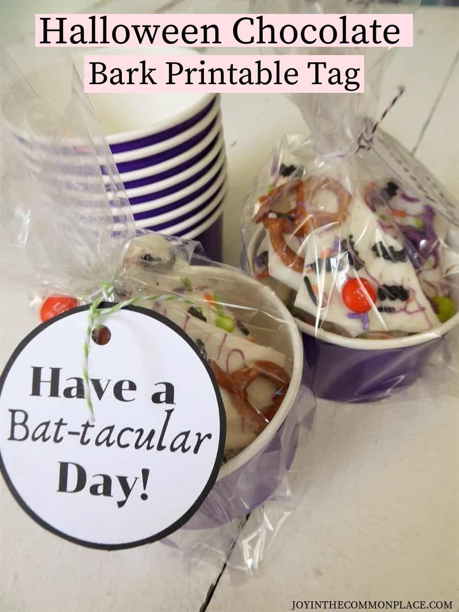 Bat-tacular Bark Printable Gift Tag