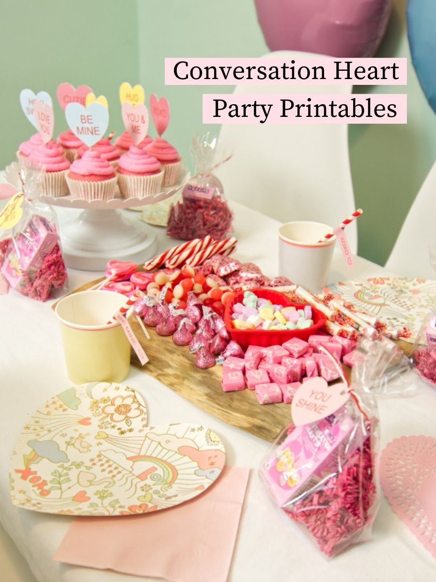 Free Conversation Heart Party Printables