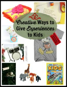 Creative Ways To Give Experiences To Kids Joy In The Works