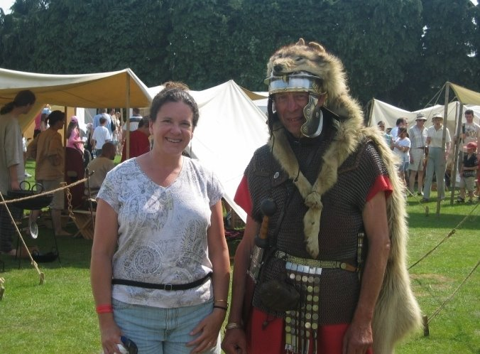 Me with a Roman Signifier (Standard Bearer)