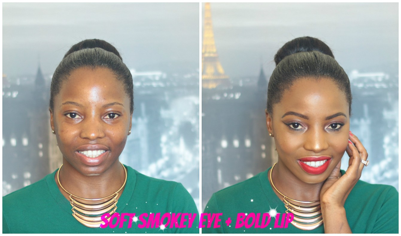 smokey eye bold lips Joy Quint