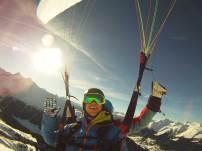 Passagierflug in Graubünden