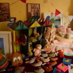 crochet toys and pin cushions
