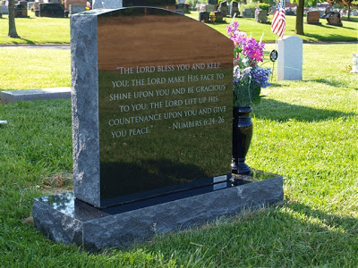 the back of Elli's headstone