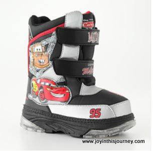 lightning mcqueen snow boots