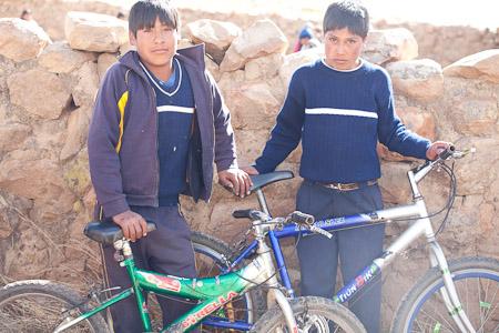 Bolivian boys