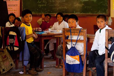 Children in a rural Bolivian school