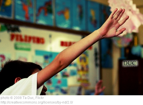 raise hand in class