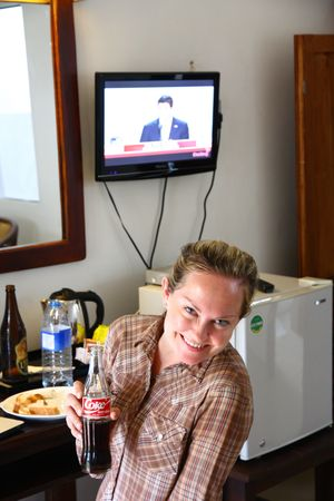 Laura watching the RNC
