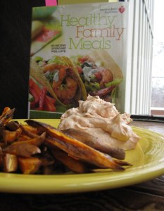 Photo of Sweet Potato Fries with Spicy Yogurt Dip