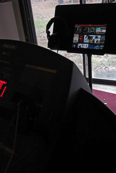 photo of Treadmill and iPad