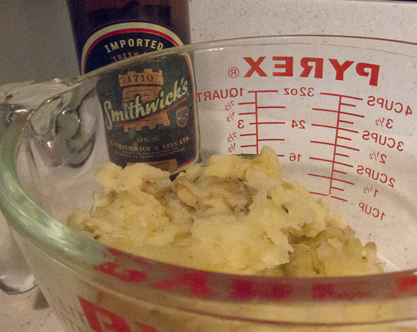 photo of colcannon and beer