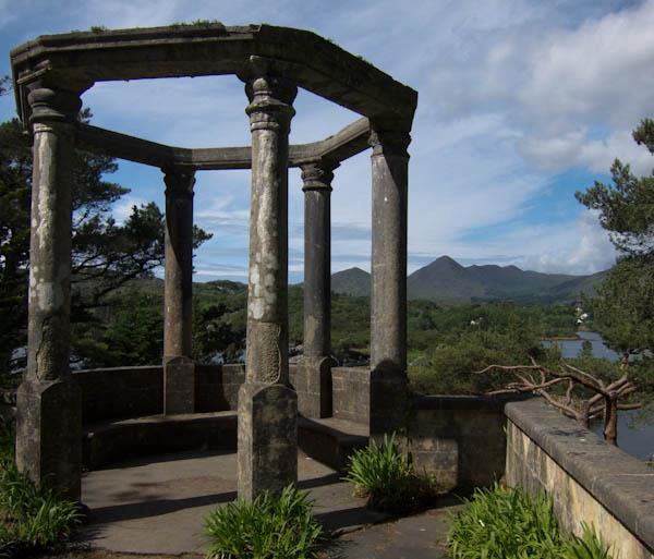 Temple folly in Illnicullin Garden on Garinish Island