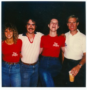 photo of me with coworkers, The Muny, 1982