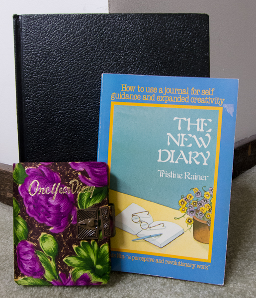 photo of The New Diary by Tristine Rainer with diary and journal