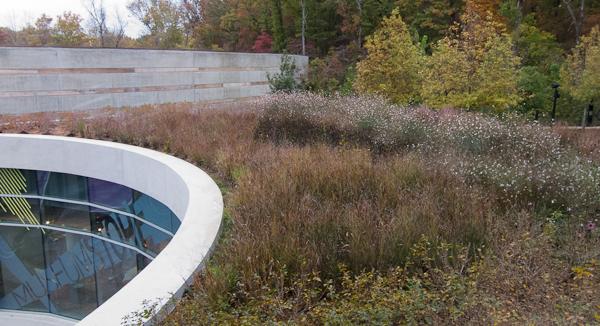 Roof garden at Crystal Bridges Museum of American Art