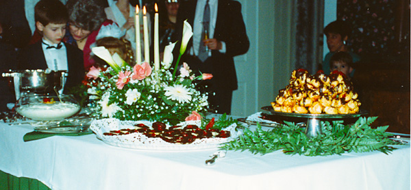 photo of the food at our wedding reception