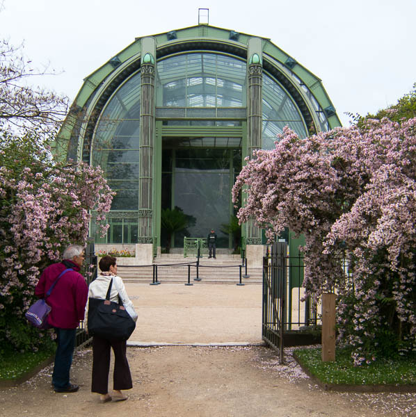 Entrance to the Large Glasshouses in the Jardin des Plantes