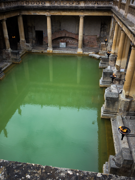 The Great Bath in the Roman Baths, Bath, UK