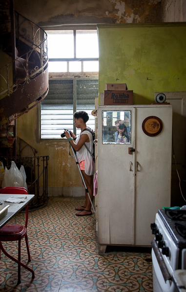 Kitchen in Vedado house, Havana, Cuba