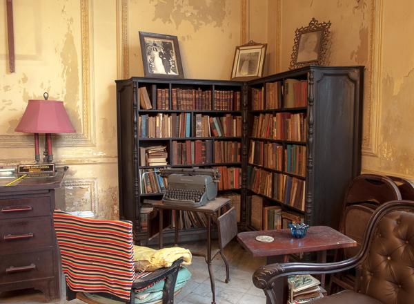 Study in Vedado house, Havana, Cuba