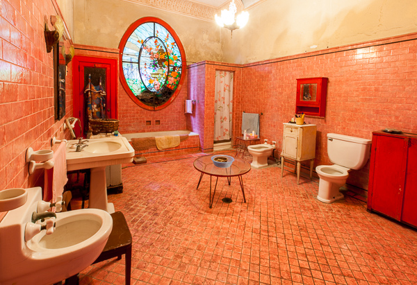 Bathroom in Vedado house, Havana, Cuba